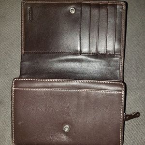 Dark chocolate brown wallet